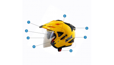 Nama Bagian-bagian Pada Helm Beserta Fungsinya