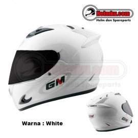 PROMO KEMERDEKAAN - GM RACE PRO SINGLE VISOR – SOLID - WHITE