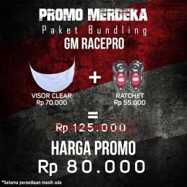 PROMO KEMERDEKAAN - PAKET BUNDLING VISOR - GM RACE PRO