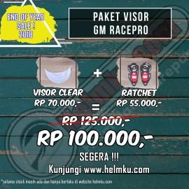 PROMO END YEAR SALE - PAKET VISOR GM RACEPRO + RATCHET