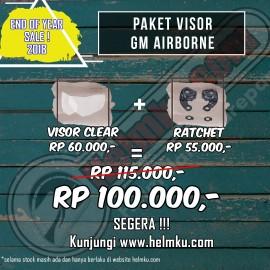 PROMO END YEAR SALE - PAKET VISOR GM AIRBORNE + RATCHET