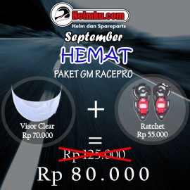 PROMO SEPTEMBER HEMAT - PAKET BUNDLING VISOR - GM RACE PRO