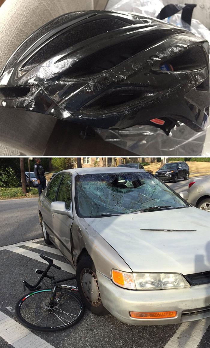 helm sepeda kecelakaan;