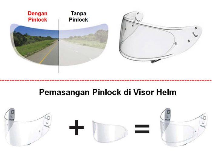 Pinlock, Solusi Anti Kabut Pada Helm Saat Berkendara